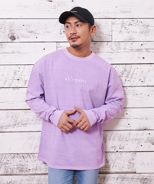 3D LOGO PIGMENT WASH BIG LONG SLEEVE[REC164]