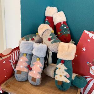【小物】ファッション合わせやすいクリスマス手袋24995218