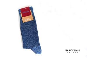 マリコリアーニ|marcoliani|クルー丈ソリッドソックス|Pique|Amalfi blue