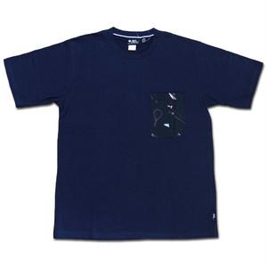 gym master ハッピーペイントポケットTee ネイビー×フィッシング DEOCELL ジムマスター Tシャツ デオセル カットソー 半袖 G433615