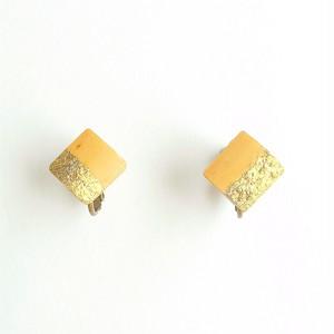 シングルリードと金箔のイヤリング Reed  goldleaf earring #2