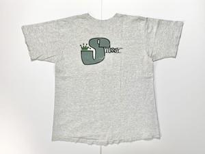 80s STUSSY オールドステューシー 黒タグ USA製 クラウンロゴ Tシャツ L