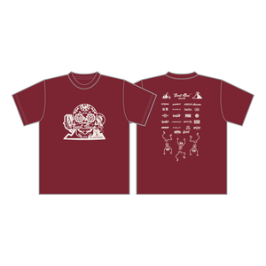 BURSTMAX'18Tシャツ(バーガンディ)