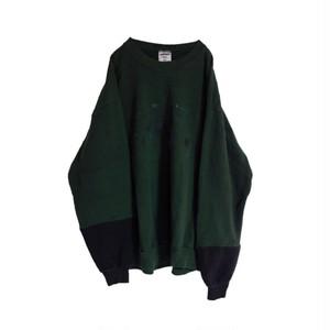 再構築 スウェットシャツ 緑 × 黒