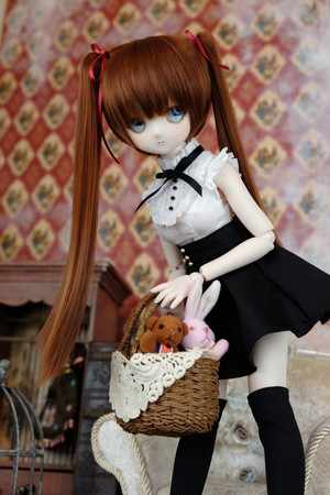 MDD用OFおしゃま全円ミニスカート(ブラック)