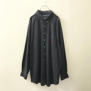 Ralph Lauren コットンオーバーサイズシャツ ブラック size 3XLT メンズ 古着