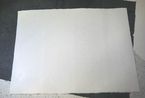 拓本染め用 白石和紙 2枚