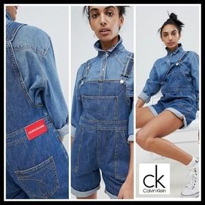 【予約販売】Calvin Klein Jeans Short Dungarees カルバンクライン DENIM