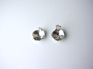 Rose petal pierced earrings