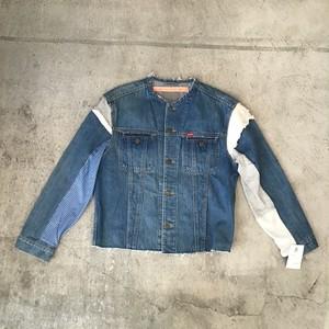 Mametra × SHINPINデニム×スウェットジャケット