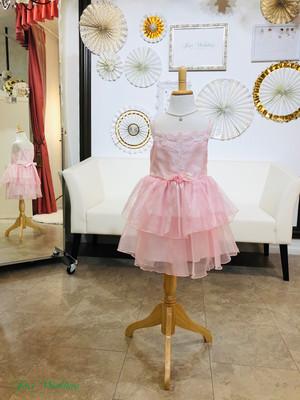 お姫様 ドレス 100㎝ ティアード キャミソール ワンピース お呼ばれ 発表会 ピンク