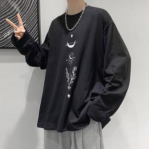 ビッグシルエット・イラストロゴ長袖Tシャツ