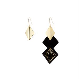 Leather & Metal Hooks - Diamond Shape Black