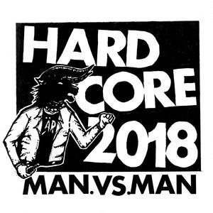 【プリ・オーダー】M.A.N.VS.M.A.N - Hardcore 2018 + 5.6 oz Tシャツ トリコカラー Blue X Red size:M  バンドル