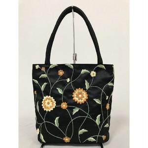 ベトナムバッグ 刺繍バッグ シルクバッグ トートバッグ 肩掛け 鞄 両面刺繍 ベトナム雑貨