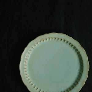 マルヤマウェア ターコイズしのぎプレート (6寸半 20cm)