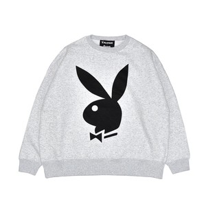 EXAMPLE x PLAYBOY BACK HEART LOGO OVER CREW NECK / ASH