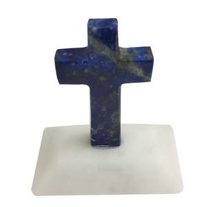 チリ産 ラピスラズリ 十字架(台座付き)