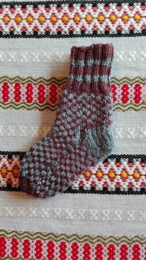 ラトビア 手編み靴下 14㎝