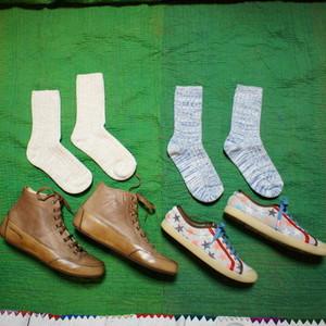H FOOTWEAR WOOL  RETOUR リサイクルコットンソックス 全4色