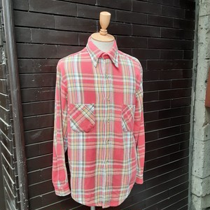 60~70's Big Mac Check Patterned Heavy Flannel Shirt Made in Portugal 60~70年代 ビッグマック チェック ヘビーフランネル シャツ ポルトガル製