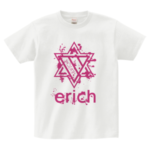 ERICH / HEXAGRAM LOGO T-SHIRT WHITE