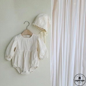 «sold out»«bebe» lace babysuit set ベビーボディスーツ ボンネット付き