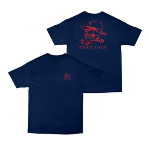HARD LUCK - BON LOGO TEE (Navy)