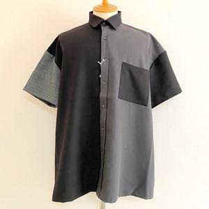 Gimmick Design & Big Silhouette Short Sleeve Shirt Black
