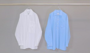 Inside Pocket Grandpa Shirt 【WHITE】