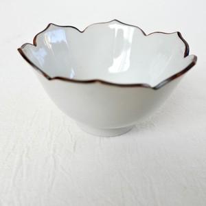 [KR30418]  九谷の白リンカ小鉢 (1個)昭和 / Kutani White Small Plates & Bowls / Showa Era