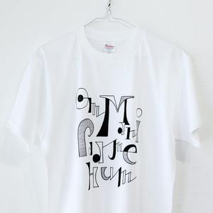 タイポTシャツ<Tibetan Mantra-1>