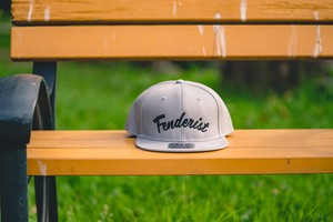 【送料無料】Flat Visor Cap [Gray] Leaves - Fenderist