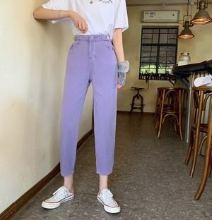 〈カフェシリーズ〉パステルカラーデニムパンツ 【pastel color denim pants】