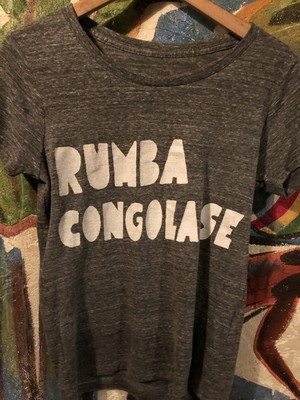 RUMBA CONGOLAISE Tシャツ ダークヘザーS、 M