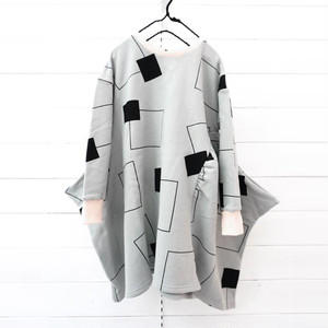 3PATTERNS SWITCHING SWEAT DRESS / WOMEN