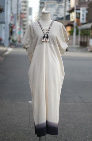 Cotton & linen V neck dress