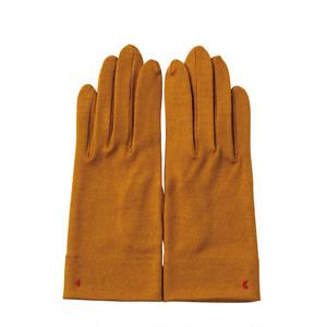 【手袋】104 マスタード/ウール100%/手が細くキレイに見える/スマホタッチ仕様(オプション)