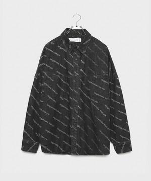 LEGENDA Repeat Logo Denim Shirts [Black]