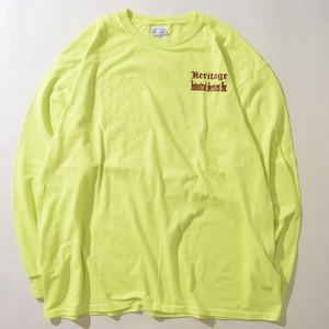 【XLサイズ】HERITAGE LOGO L/S TEE 長袖Tシャツ S.GREEN グリーン XXL 400601200164
