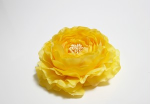 ヘアコサージュ(造花)*ラナンキュラス01*イエロー