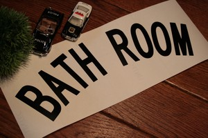 【受注製作】Cutting Sticker 『BATHROOM』 Black