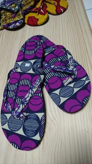 African batik sandal