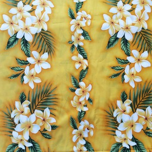 USA Cotton Hawaiian Fabric     プルメリア