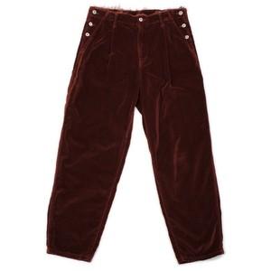 【doublet】CUT OFF VELVET PANTS