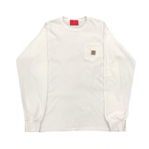 TTT MSW L/S POCKET TEE WHITE