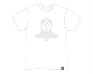 【春色!】新発売!【レッツ剣道ロゴTシャツ】白×白【ラバープリント】ヘビーウエイトT