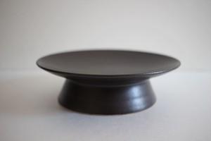 鈴木しのぶ|高台皿5寸(茶)