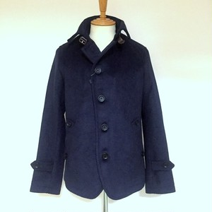 Wool Melton Single P-Coat Navy