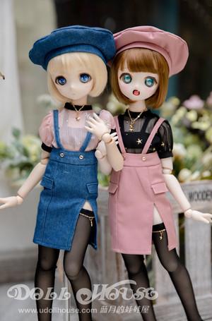 【doll house】【即納】MDDレースTOP×タイトSKセット【MDD】【2色】